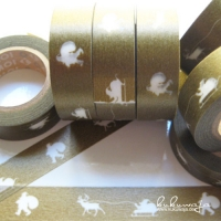MT Masking Tape Xmas Gold / Weiß